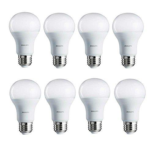Philips LED Non-Dimmable A19 Light Bulb: 1500-Lumen, 2700-Kelvin, 14-Watt (100-Watt Equivalent), E26 Base, Soft White, 8-Pack