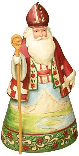 """Jim Shore Heartwood Creek Swiss Santa Stone Resin Hanging Ornament, 4.5"""""""