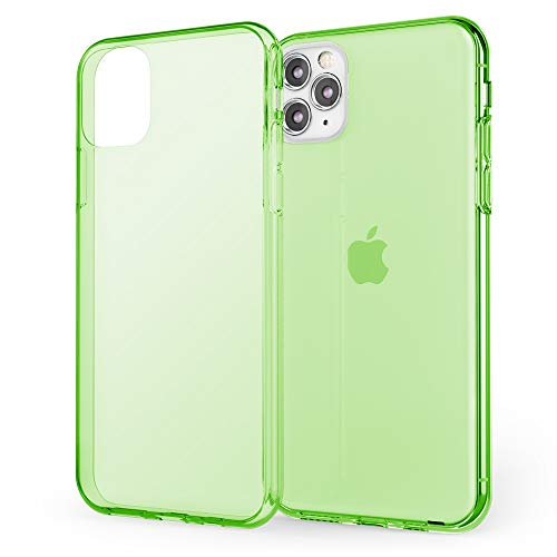 NALIA Phone Cover Compatible with iPhone 11 Pro Max, Protective See Through Slim Soft TPU Silicone Case Crystal Clear, Shockproof Back Protector Coverage Smartphone Skin Bumper, Color:Green