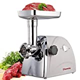 Sunmile SM-G31 Electric Meat Grinder - Max 1HP 800W- ETL Meat Mincer Sausage Grinder, Stainless Steel Cutting Blade, 3 Stainless Steel Grinding Plates, 1 Big Sausage Stuff