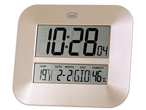 Trevi OM 3520D Reloj de Pared, Dorado, 25x 25x 4cm