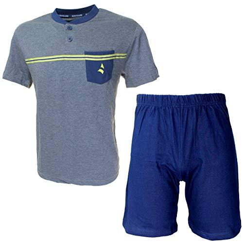Navigare Pigiama Corto Uomo Fresco Cotone Jersey Pantalone Manica Corta 2141212 (M)