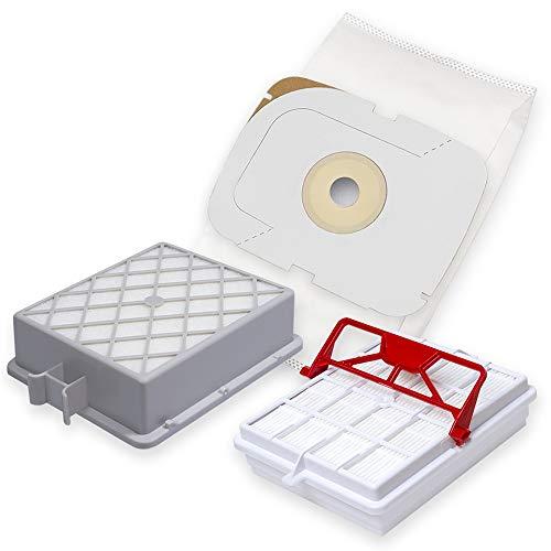 12 Premium Staubsaugerbeutel +1 Hepa +1 Hepa Carbon Filter passend Lux Intelligence - Spezielles hygienisches Synthetikmaterial - Bestleistung beim Saugen - Hochwertige Qualität