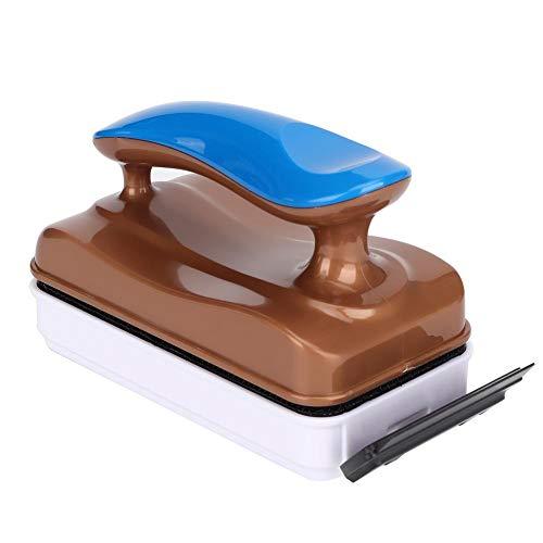 Pssopp - Cepillo limpiador magnético para acuario, doble cara, limpiador de vidrio para tanque de peces, musgo, algas, removedor de algas, cepillo limpio flotante (HX-02MAX L)