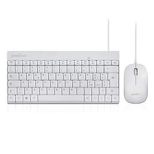 Perixx PERIDUO-212 - Juego de teclado y ratón con cable con 12...