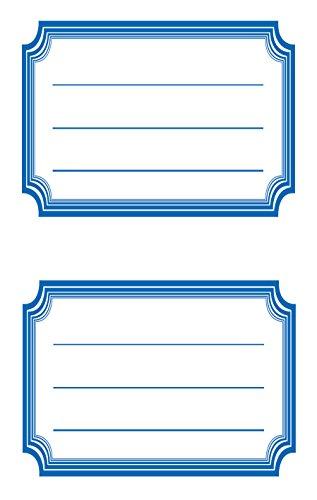 AVERY Zweckform 59687 BuchEtiketten Rahmen blau (starker Halt) 12 Aufkleber