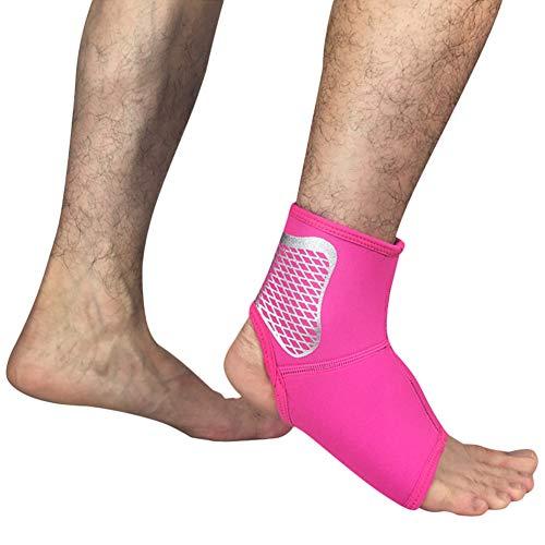 Demarkt - Tobillera de Neopreno, para Correr, Baloncesto, fútbol, Izquierda y Derecha, Color Rosa-L, tamaño 42-45
