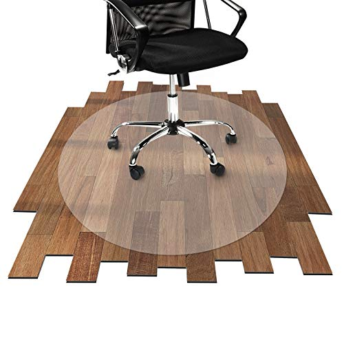 Tapis protège-sol Office Marshal® rond pour sol dur | 3 tailles au choix | PC antidéchirure | transparent et antiglisse | diamètre 90cm