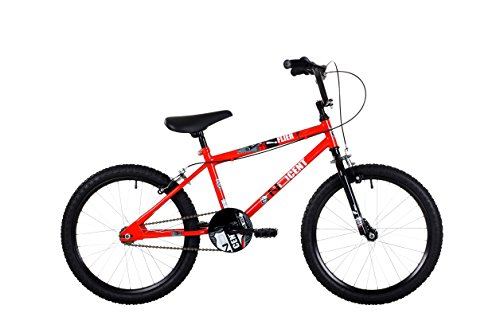 Ndcent Flier Kids' Freestyle Bike Red, 12' inch steel frame, 1 speed 20' bmx wheels front & rear...