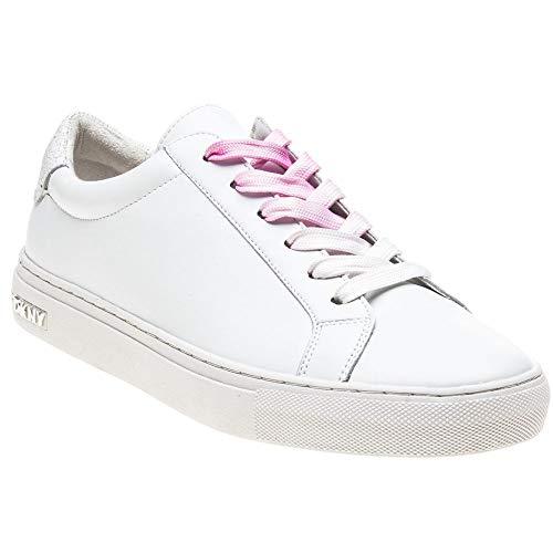 DKNY Damen Court Lacing Tennisschuhe Sneaker Weiß 38 EU