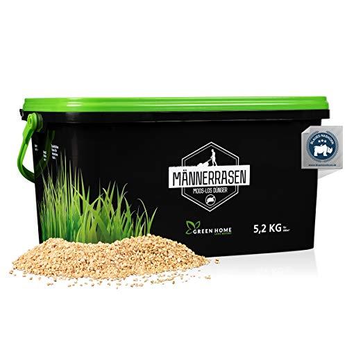 GREEN HOME LOVE NATURE®️ Moos-los Rasendünger - 5,2kg Rasendünger gegen Unkraut und Moos - Moos-los Rasen mit starker Wirkung - Gebinde 70% recycelt - Made in Germany