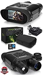 CreativeXP Digital Night Vision Binoculars for Complete Darkness - GlassOwl Infrared Spy Gear for Hunting and Surveillance