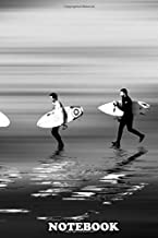 Notebook: Lets Go Surf Mono , Journal for Writing, College Ruled Size 6