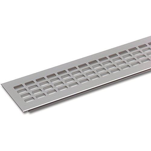 SECOTEC Lüftungsgitter 60 x 400 mm | Alu | Oberfläche: natur eloxiert | 1 Stück