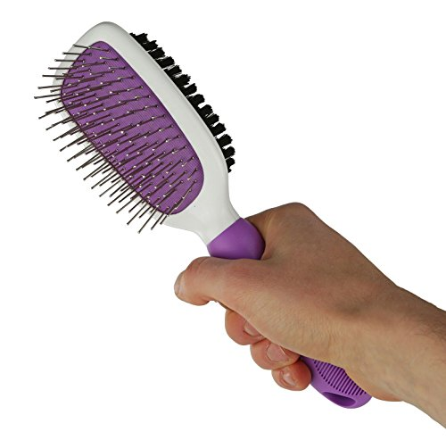 Double-Sided Pet Brush for Grooming & Massaging Dogs