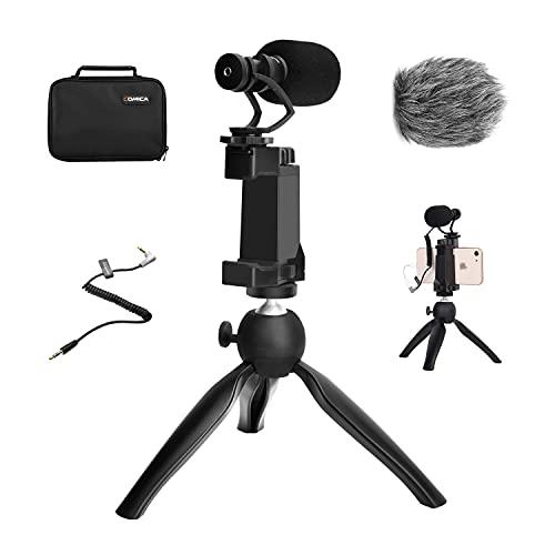 COMICA Smartphone Video Kit, Phone Vlogging Kit CVM-VM10-K2 mit Mini Stativ, Kamera...