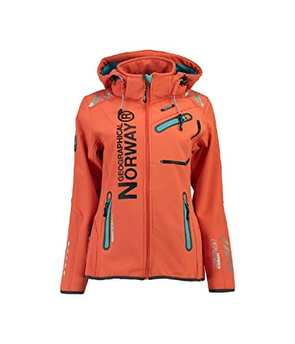 90B2 Geographical Norway Reine Lady Damen Softshell Jacke Corail Gr. L