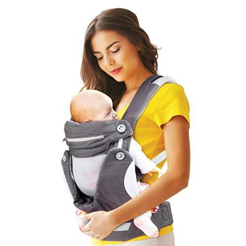 Myrolab Babytrage, ergonomisch, für Neugeborene, Babytrage, Babytrage, hoher Komfort, multifunktional, bequem, atmungsaktiv und verschiedene Tragepositionen