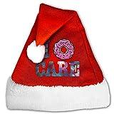 Photo de My Spirit Bonnet de Père Noël unisexe en peluche rouge et blanc - - Small