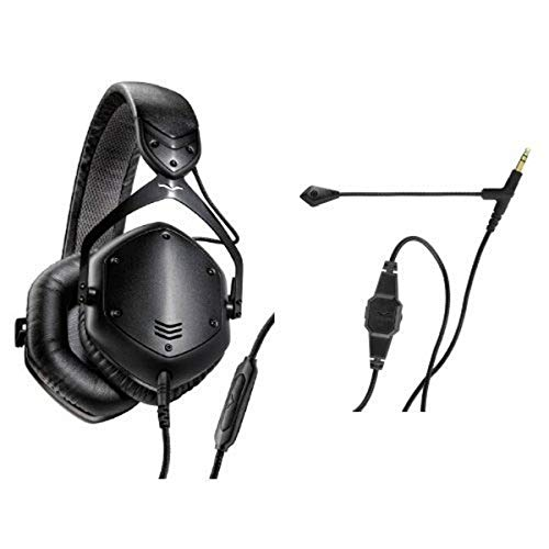 V-MODA Crossfade LP2 Vocal Limited Edition Over-Ear Noise-Isolating Metal Headphone (Matte Black) and V-MODA BoomPro Gaming, VoIP Headset Headphone with Mic (Black) Bundle