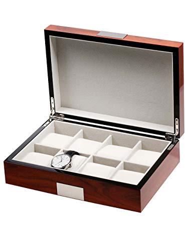 Rothenschild Uhrenbox RS-2022-8RO für 8 Uhren Rosewood