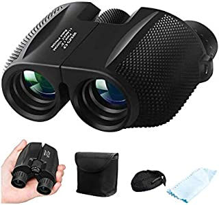 Binoculars for Adults Kids, ZIPOUTE 10x25 Folding Compact Binoculars with Weak Light Night Vision Clear for Birds Watching...