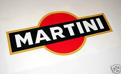 LE MANS MARTINI optik aufkleber großes logo PORSCHE LANCIA ALFA FOCUS