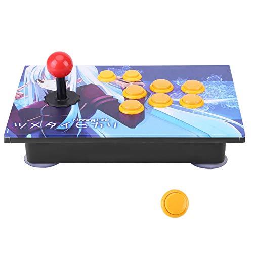 Game Controller - Joystick USB-Stick-Tasten Controller-Steuergerät für PC-Computer-Arcade-Spiel mit Ersatztaste