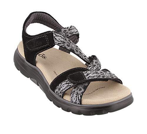 Taos Footwear Women's Zen Black/Ice Sandal 6 M US