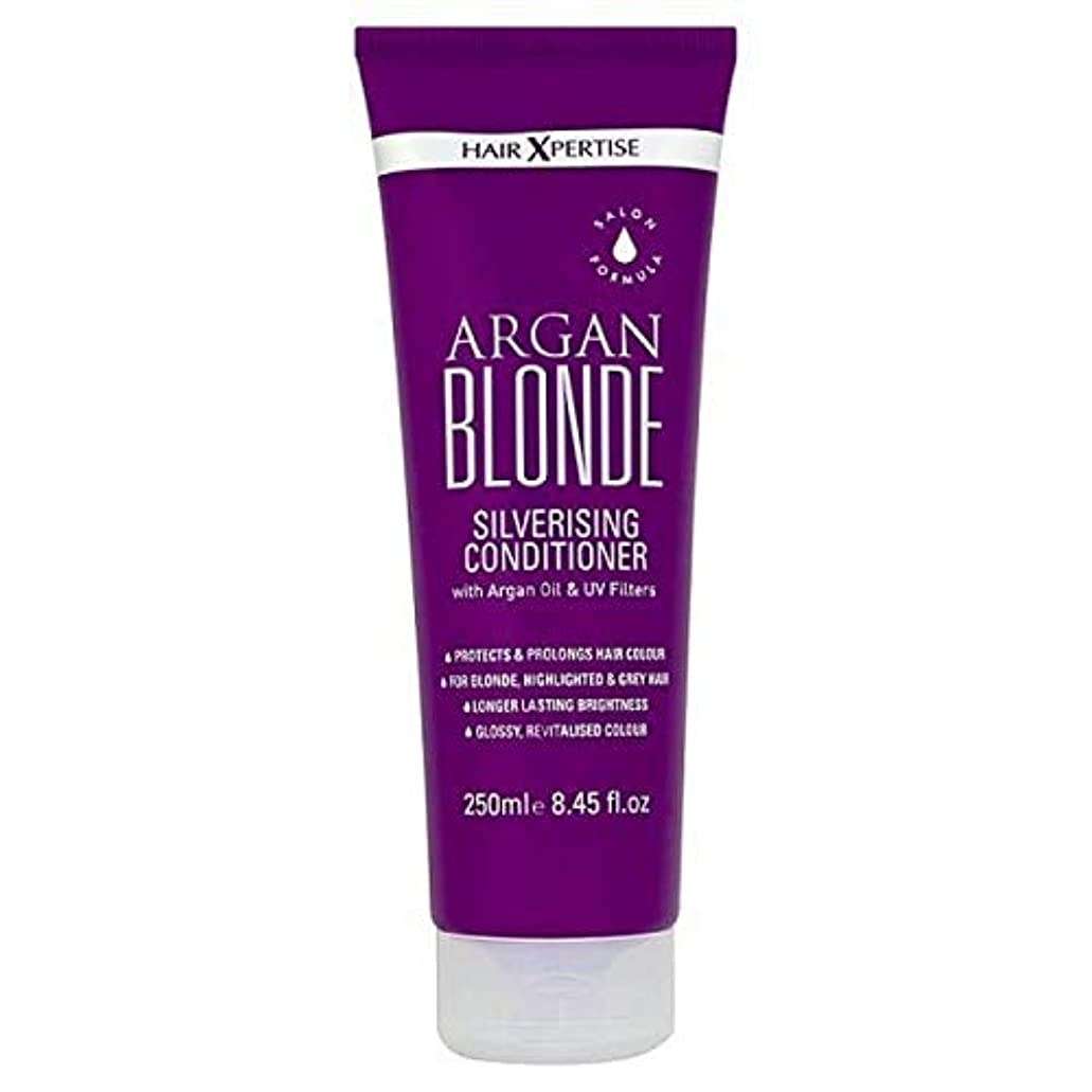 事務所夫婦米ドル[Hair Xpertise] ヘアXpertiseのアルガンブロンドSilverisingコンディショナー250ミリリットル - Hair Xpertise Argan Blonde Silverising Conditioner 250ml [並行輸入品]