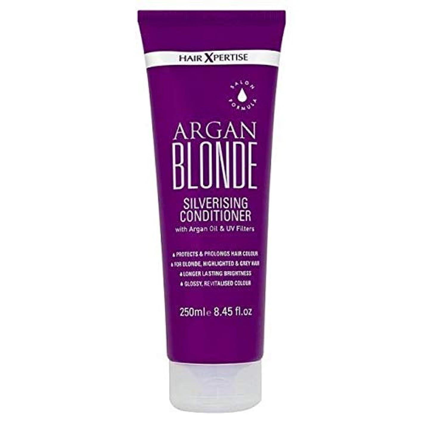 ゼリー思いつくゾーン[Hair Xpertise] ヘアXpertiseのアルガンブロンドSilverisingコンディショナー250ミリリットル - Hair Xpertise Argan Blonde Silverising Conditioner 250ml [並行輸入品]