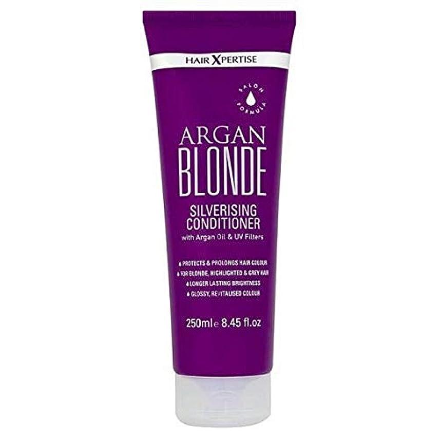 売る防腐剤気体の[Hair Xpertise] ヘアXpertiseのアルガンブロンドSilverisingコンディショナー250ミリリットル - Hair Xpertise Argan Blonde Silverising Conditioner 250ml [並行輸入品]