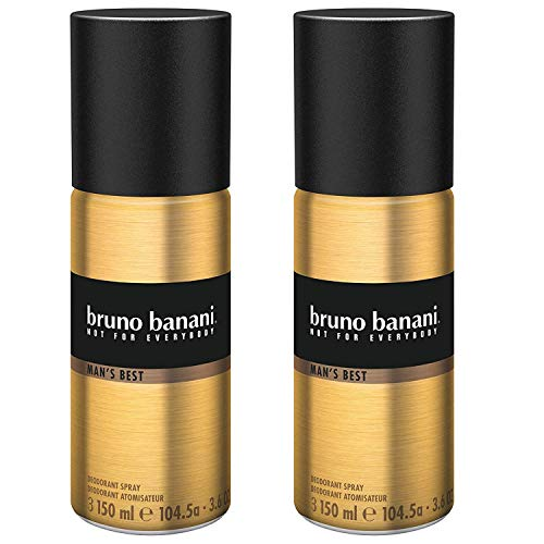 Bruno Banani Man's Best Deodorant Body Spray, maskulin, 2er Pack (2 x 150 ml)