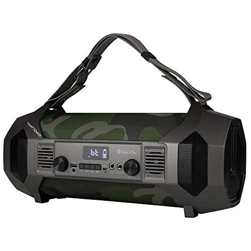 NGS Street Force – Boombox Portatile de 150W Compatibile con Tecnologia Bluetooth (USB/Micro SD/AUX IN)
