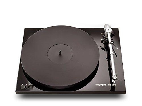 Thorens TD 203 High End Plattenspieler inkl. Ortofon 2M Blue MM-Tonabnehmer | Schwarz