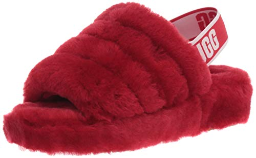 UGG Women's Fluff Yeah Slide Slipper, Ribbon Red, 8