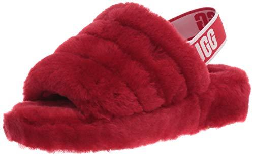 UGG Women's Fluff Yeah Slide Slipper, Ribbon Red, 6