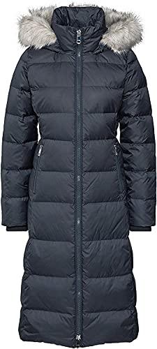 Tommy Hilfiger Damen New TYRA Maxi DOWN Coat Mantel, Grau (Meteorite BAV), Small (Herstellergröße:S)