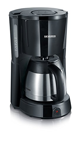 SEVERIN Kaffeemaschine, Select, Für gemahlenen Filterkaffee, 8 Tassen, Inkl. Thermokanne, KA 4131, Edelstahl/Schwarz