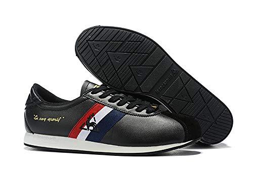 WFQGZ Hommes Et Femmes Classiques Couple Chaussures De Course Respirantes-Noir Et Blanc_45