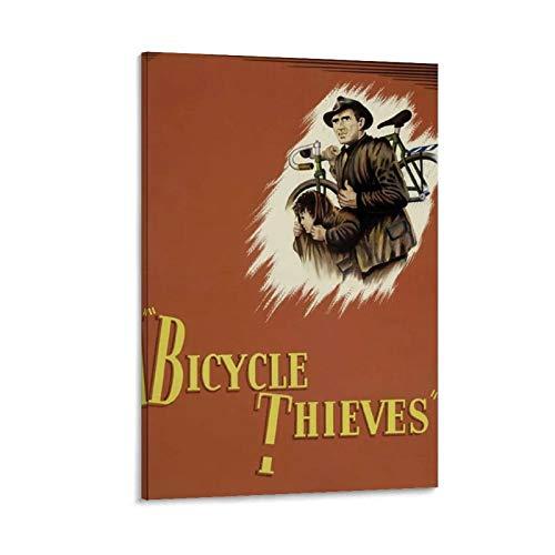 Póster decorativo de la película de ladrones de bicicleta de la lona de la pared del arte de la sala de estar carteles del dormitorio pintura de 20 x 30 cm
