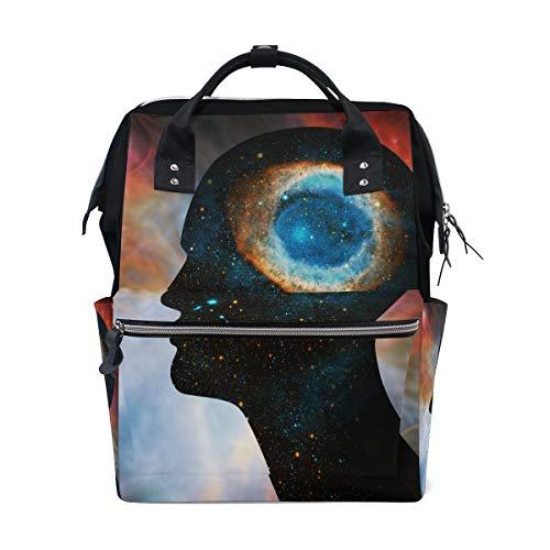 Human Head Space of Elements Ausstattung von NASA Baby Wickeltasche, wasserdicht, große Kapazität, Reisetasche, wasserdichte Wickeltasche für Damen und Herren