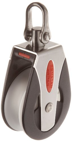 RONSTAN RF51100 Series 50 AP Block Universal Head Single Pulley, 3310 Lbs Load Capacity, 2