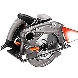 TACKLIFE Scie Circulaire, 1500W, lames de 185mm (24T et 40T), Guide Laser, Protection en Métal - PES01A