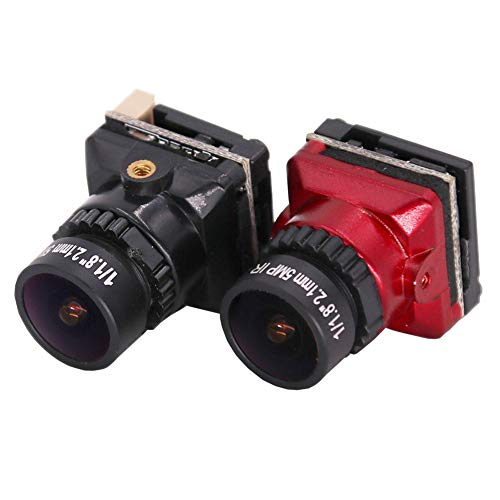 Amyove FPV Kamera 1/1.8 800TVL HD CCD 2.1mm 5MP OSD Taste DC 5-.30V NTSC PAL Einstellbarer Winkel Umschaltbare Kamera Für RC Quadcopter Drone Schwarz
