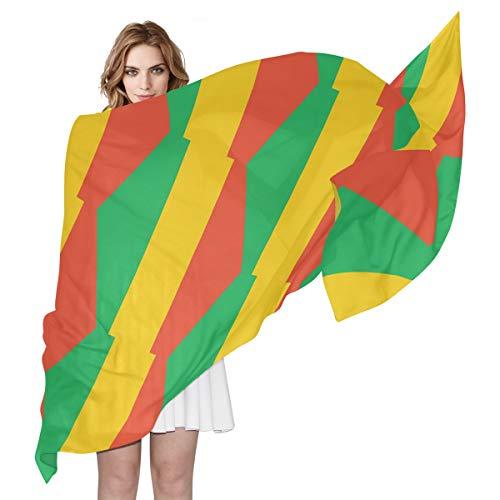 SD3DPrint Congo Brazzaville Damen Schal/Schal mit Flagge, seidig, 180 x 90 cm