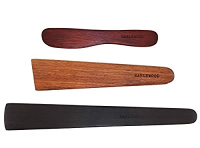 Earlywood 3-Piece Wooden Kitchen Cooking Utensil Set