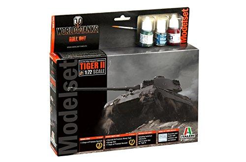 Italeri 74001 World of Tanks Tiger II Model kit Model Set carri armati plastica Scala 1:72