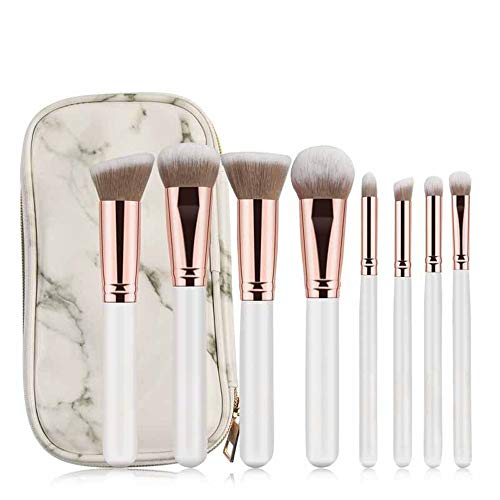 8 Pcs Pro Pinceaux De Maquillage Pinceau De Maquillage Poudre Fond De Teint Ombre À Paupières Eyeliner Mélange Lèvres Blanc Brosse à maquillage XXYHYQ