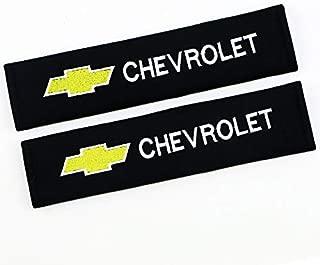 QZS Car Seat Belt Shoulder Pads Strap Covers Cushion 1 Pair/Set for Car (Chevrolet Yellow)